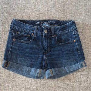 American Eagle Super Stretch Midi Shorts 2